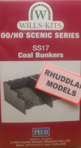 WILLS SS17 OO/1:76 COAL BUNKERS - (PRICE INCLUDES DELIVERY)