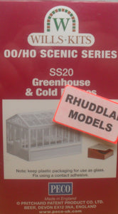 WILLS SS20 OO/1:76 GREENHOUSE & COLD FRAMES - (PRICE INCLUDES DELIVERY)