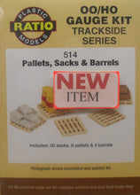 Load image into Gallery viewer, RATIO 514 OO/1:76 PALLETS, SACKS & BARRELS - (PRICE INCLUDES DELIVERY)