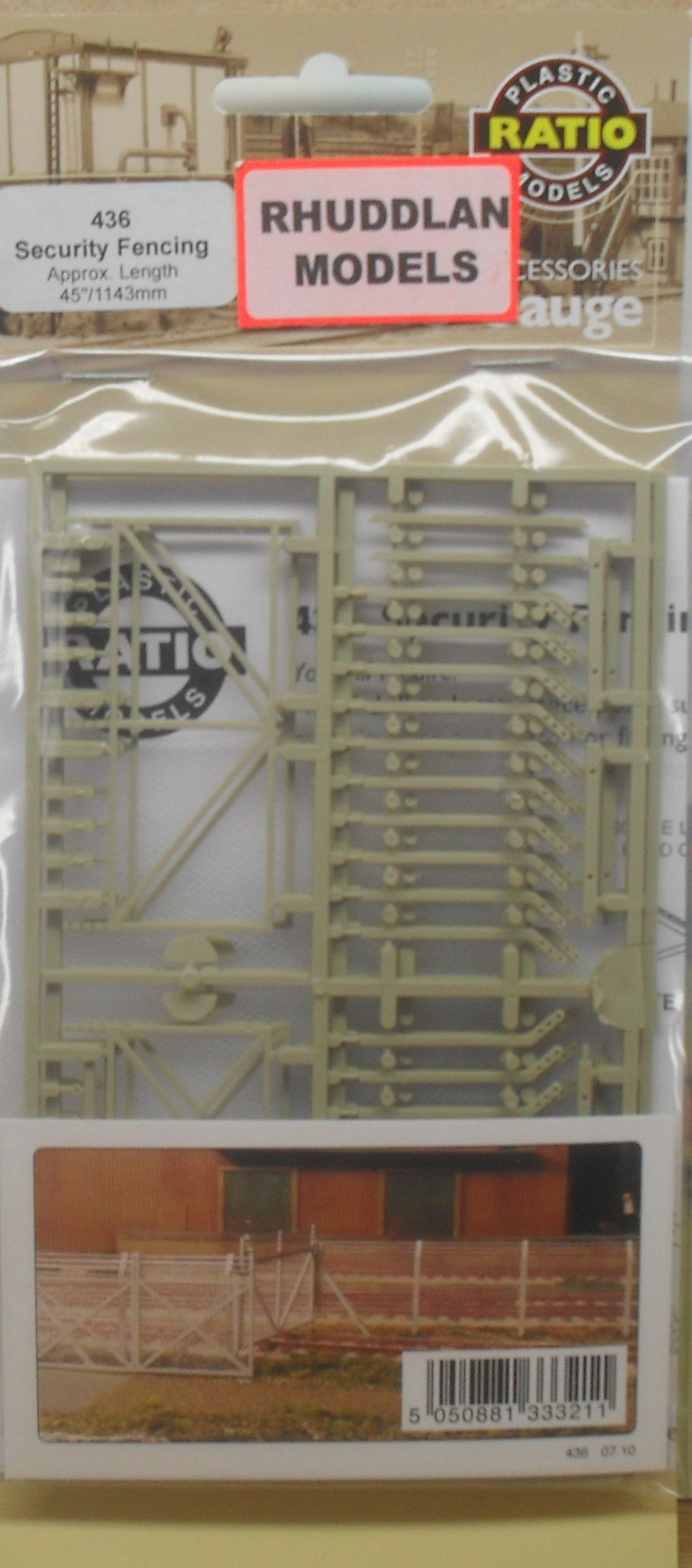 RATIO 436 OO/1:76 SECURITY FENCING - (PRICE INCLUDES DELIVERY)