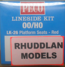 Load image into Gallery viewer, PECO LK-26 OO/1:76 PLATFORM SEATS-RED - (PRICE INCLUDES DELIVERY)