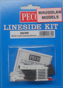 PECO LK-51 OO/1:76 LEVEL CROSSING BARRIERS - (PRICE INCLUDES DELIVERY)
