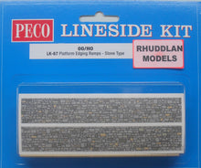 Load image into Gallery viewer, PECO LK-67 OO/1:76 PLATFORM EDGING RAMPS STONE TYPE - (PRICE INCLUDES DELIVERY)