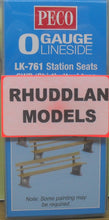 "Load image into Gallery viewer, PECO LK-761 O/1:48 STATION SEATS GWR ""SHIRTBUTTON"" TYPE - (PRICE INCLUDES DELIVERY)"