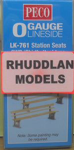 "PECO LK-761 O/1:48 STATION SEATS GWR ""SHIRTBUTTON"" TYPE - (PRICE INCLUDES DELIVERY)"