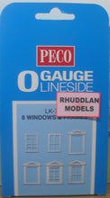 Load image into Gallery viewer, PECO LK-756  O/1:48 8 WINDOWS & FRAMES - (PRICE INCLUDES DELIVERY)