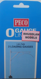 PECO LK-749 0/1:48 2 LOADING GAUGES - (PRICE INCLUDES DELIVERY)