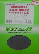 Load image into Gallery viewer, METCALFE M0053 OO/1.76 ENGINEERS BLUE BRICK BUILDERS SHEETS - (PRICE INCLUDES DELIVERY)