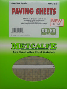 METCALFE M0055 OO/1.76 PAVING SHEETS - (PRICE INCLUDES DELIVERY)