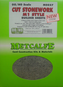 METCALFE M0057 OO/1.76 CUT STONEWORK M1 STYLE - (PRICE INCLUDES DELIVERY)