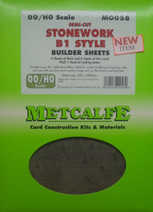 METCALFE M0058 OO/1.76 SEMI-CUT STONEWORK B1 STYLE - (PRICE INCLUDES DELIVERY)