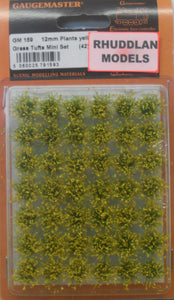 GAUGEMASTER GM 159 12MM PLANTS YELLOW GRASS TUFTS MINI SET - (PRICE INCLUDES DELIVERY)
