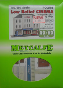 METCALFE PO206 OO/1.76 LOW RELIEF CINEMA - (PRICE INCLUDES DELIVERY)