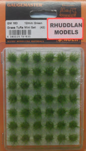 GAUGEMASTER GM 163 12MM GREEN GRASS TUFTS MINI SETS - (PRICE INCLUDES DELIVERY)