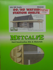 METCALFE PO239 OO/1.76 WAYSIDE STATION SHELTER - (PRICE INCLUDES DELIVERY)