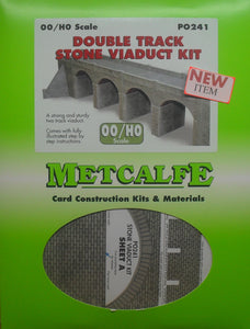 METCALFE PO241 OO/1.76 DOUBLE TRACK STONE VIADUCT - (PRICE INCLUDES DELIVERY)