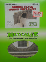 Load image into Gallery viewer, METCALFE PO242 OO/1.76 DOUBLE TRACK TUNNEL ENTRANCES - (PRICE INCLUDES DELIVERY)