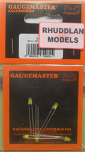Load image into Gallery viewer, GAUGEMASTER ACCESSORIES GM82 3MM LED YELLOW X5 - (PRICE INCLUDES DELIVERY)
