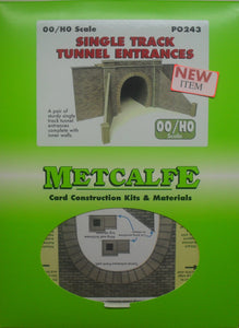 METCALFE PO243 OO/1.76 SINGLE TACK TUNNEL ENTRANCES - (PRICE INCLUDES DELIVERY)