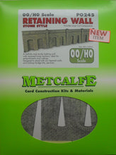 Load image into Gallery viewer, METCALFE PO245 OO/1.76 REATAINING WALL STONE STYLE - (PRICE INCLUDES DELIVERY)