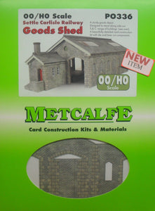 METCALFE PO336 OO/1:76 GOODS SHED SETTLE CARLISLE  - (PRICE INCLUDES DELIVERY)