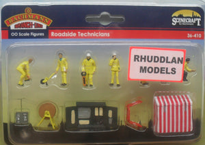 BACHMANN SCENECRAFT 36-410 OO ROADSIDE TECHNICIANS - (PRICE INCLUDES DELIVERY)