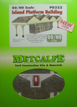 Load image into Gallery viewer, METCALFE PO322 OO/1:76 ISLAND PLATFORM BUILDING - (PRICE INCLUDES DELIVERY)