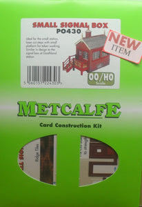 METCALFE PO430 OO/1:76 SMALL SIGNAL BOX - (PRICE INCLUDES DELIVERY)