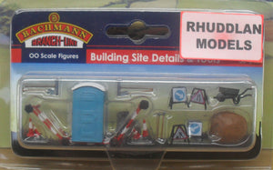 BACHMANN SCENECRAFT 36-048 OO BUILDING SITE DETAILS & TOOLS - (PRICE INCLUDES DELIVERY)