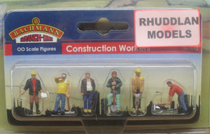 BACHMANN SCENECRAFT 36-042 OO CONSTRUCTION WORKERS - (PRICE INCLUDES DELIVERY)