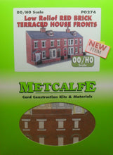 Load image into Gallery viewer, METCALFE PO274 OO/1:76 RED BRICK TERRACED HOUSE FRONTSLOW RELIEF - (PRICE INCLUDES DELIVERY)