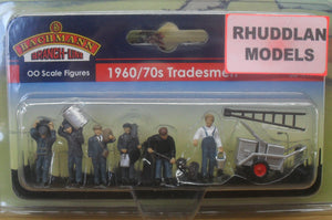BACHMANN SCENECRAFT 36-417 OO 1960/70 TRADESMEN - (PRICE INCLUDES DELIVERY)