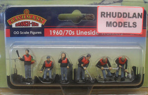BACHMANN SCENECRAFT 36-421 OO 1960/70 LINESIDE WORKERS (PRICE INCLUDES DELIVERY)