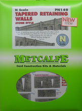 Load image into Gallery viewer, METCALFE PN149 N GAUGE TAPERED RETAINING WALLS STONE STYLE - (PRICE INCLUDES DELIVERY)