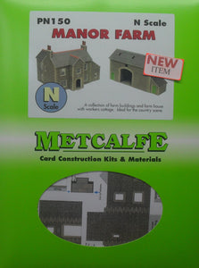 METCALFE PN150 N GAUGE MANOR FARM - (PRICE INCLUDES DELIVERY)