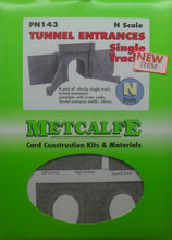 Load image into Gallery viewer, METCALFE PN143 N GAUGE TUNNEL ENTRANCES SINGLE TRACK - (PRICE INCLUDES DELIVERY)