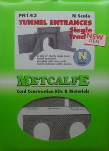 METCALFE PN143 N GAUGE TUNNEL ENTRANCES SINGLE TRACK - (PRICE INCLUDES DELIVERY)
