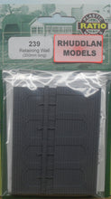 Load image into Gallery viewer, RATIO 239 N GAUGE RETAINING WALL (350MM LONG) - (PRICE INCLUDES DELIVERY)