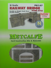 Load image into Gallery viewer, METCALFE PN147 N GAUGE RAILWAY BRIDGE STONE WALL - (PRICE INCLUDES DELIVERY)