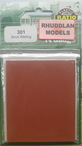 RATIO 301 N GAUGE BRICK WALLING - (PRICE INCLUDES DELIVERY)
