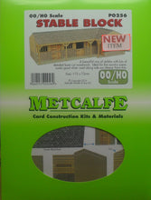 Load image into Gallery viewer, METCALFE PO256 OO/1.76 STABLE BLOCK - (PRICE INCLUDES DELIVERY)