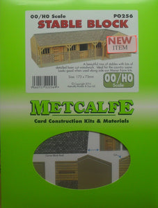 METCALFE PO256 OO/1.76 STABLE BLOCK - (PRICE INCLUDES DELIVERY)