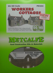 METCALFE PO255 OO/1.76 WORKERS COTTAGES - (PRICE INCLUDES DELIVERY)