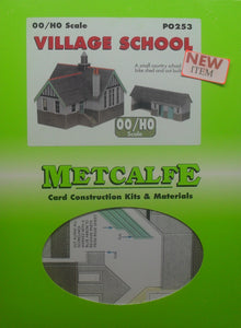 METCALFE PO253 OO/1.76 VILLAGE SCHOOL - (PRICE INCLUDES DELIVERY)