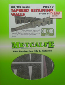 METCALFE PO249 OO/1.76 TAPERED RETAINING WALLS STONE STYLE - (PRICE INCLUDES DELIVERY)