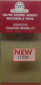 WILLS SSMP230 OO/1:76 CONCRETE BLOCKS (4) - (PRICE INCLUDES DELIVERY)