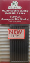 Load image into Gallery viewer, WILLS SSMP225 OO/1:76 CORRUGATED BOX STEEL (4) - (PRICE INCLUDES DELIVERY)