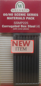 WILLS SSMP225 OO/1:76 CORRUGATED BOX STEEL (4) - (PRICE INCLUDES DELIVERY)
