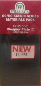 WILLS SSMP222 OO/1:76 CHEQUER PLATE (4) - (PRICE INCLUDES DELIVERY)