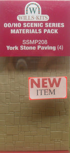 WILLS SSMP208 OO/1:76 YORK STONE PAVING (4) - (PRICE INCLUDES DELIVERY)